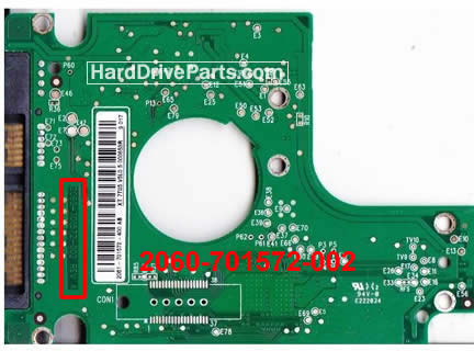 WD5000BEVT WD Scheda Elettronica Hard Disk 2060-701572-002