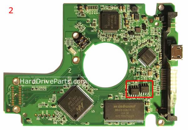 WD3200BMVV WD Scheda Logica 2060-701675-004